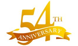 54-jähriger Band-Jahrestag vektor abbildung