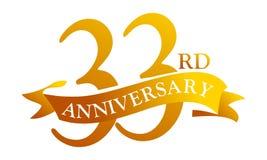 33-jähriger Band-Jahrestag lizenzfreie abbildung