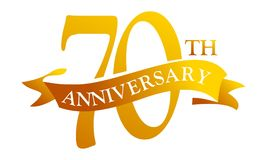 70-jähriger Band-Jahrestag stock abbildung
