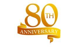 80-jähriger Band-Jahrestag stock abbildung
