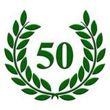 50-jähriger Jahrestag des Lorbeerkranzes auf einem weißen Hintergrund stock abbildung