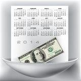 2014-jähriger Kalender Stockfoto