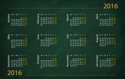 2016-jähriger Kalender Stockbild