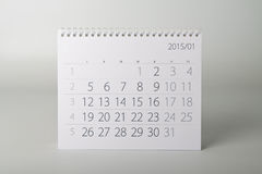 2015-jähriger Kalender januar Stockfotografie