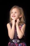 Jähriges blondes Mädchen sieben Stockbilder