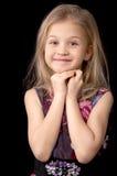 Jähriges blondes Mädchen sieben Lizenzfreie Stockfotografie