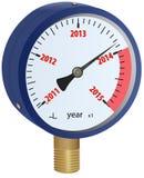 2014-jähriges näherndes Manometer Stock Abbildung
