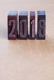 2016-jähriges Plakat Kopieren Sie Platz Lizenzfreie Stockfotos