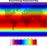 Jährliche durchschnittliche Temperatur-Karte Lizenzfreie Stockfotos