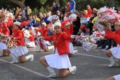 Jährliche Karnevals-Prozession. Stockfoto