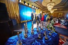 Jährliche Zeremonie der Lieferung des nationalen Preises Stockbild