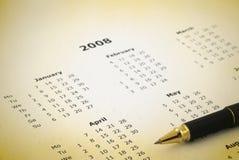 Jährlicher Kalender Lizenzfreies Stockfoto