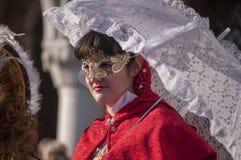 Jährlicher Karneval an der Stadt von Venedig, Italien Lizenzfreie Stockbilder