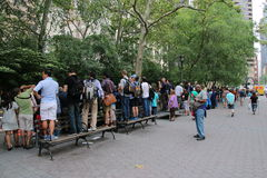 Jährlicher Tag Körper-Malerei NYC Lizenzfreies Stockfoto