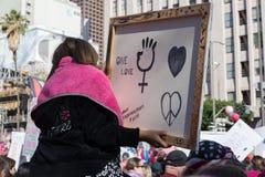 2. jährliches Frauen ` s März - eine Liebe Lizenzfreie Stockbilder