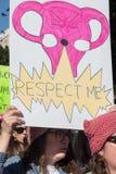 2. jährliches Frauen ` s März - Gebärmutter Lizenzfreie Stockbilder