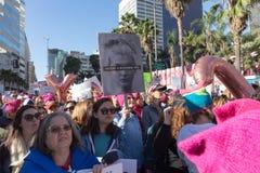2. jährliches Frauen ` s März - Geschichte passt Sie auf Stockfotografie