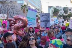 2. jährliches Frauen ` s März - Geschichte passt Sie auf Lizenzfreies Stockbild