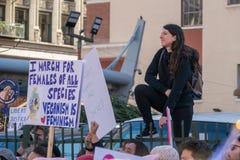 2. jährliches Frauen ` s März - ich marschiere für alle Frauen Lizenzfreie Stockbilder