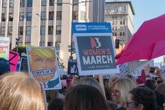 2. jährliches Frauen ` s März - klagen Sie an Stockfotos