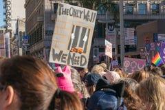 2. jährliches Frauen ` s März - nur Wand Stockfoto