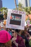 2. jährliches Frauen ` s März - speichern Sie DACA Lizenzfreie Stockfotos