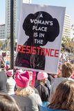 2. jährliches Frauen ` s März - Widerstand Stockfotografie