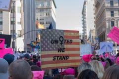 2. jährliches Frauen ` s vereinigter März - stehen wir DTLA Stockfoto