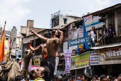 Jährliches Kampfwagenfestival Raathyatra, Ahmedabad, Indien stockfotografie