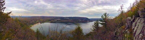 Jäkel sjö i Wisconsin royaltyfria bilder