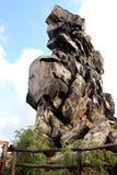 Jäkel`-vägg Teufelsmauer i Harz berg Arkivfoton