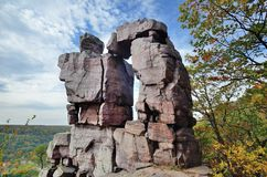 Jäkeldörröppning på Wisconsin jäkel delstatsparken för sjö royaltyfria foton