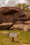 Jäkelhålan på Gettysburg den nationella militären parkerar Arkivbilder