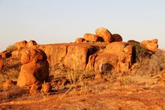 Jäkelmarmor (Karlu Karlu) nordligt territorium, Australien Royaltyfria Foton