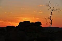 Jäkelmarmor (Karlu Karlu) nordligt territorium, Australien Arkivfoton