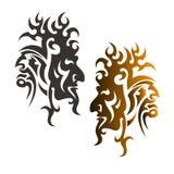 Jäkels head prydnad royaltyfri illustrationer