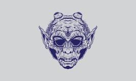Jäkels huvud från helvete royaltyfri illustrationer