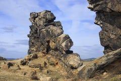 Jäkels vägg nära Thale Arkivfoto