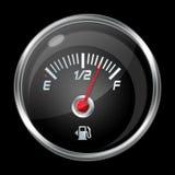 Jämn indikator för bränsle Arkivfoto