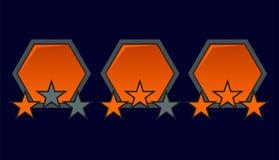 Jämnt avsluta emblemet Fotografering för Bildbyråer