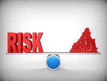 Jämvikt av risker. Abstrakt begrepp. Stock Illustrationer