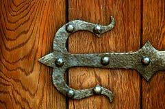 järn för dörrgångjärn arkivbild