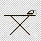Järn och strykbräda för vektorsymbolssvart Royaltyfri Fotografi