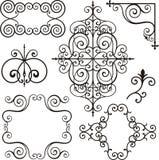 järn smyckar wrough royaltyfri illustrationer