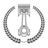 Järnbilpistong i form av utmärkelser Arkivbild