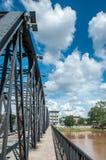 Järnbro på Chiang Mai Royaltyfri Foto