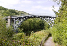 Järnbron över floden Severn Royaltyfri Foto