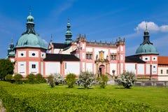 Järnekkullekloster, Pribram, Tjeckien, Europa Arkivfoton