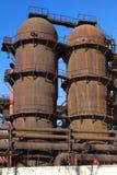 Järngjuteri för JSC 'Satkinsky ', Gammal fabrik i Satka royaltyfri fotografi