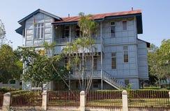 Järnhus i Maputo, Mocambique Arkivfoton